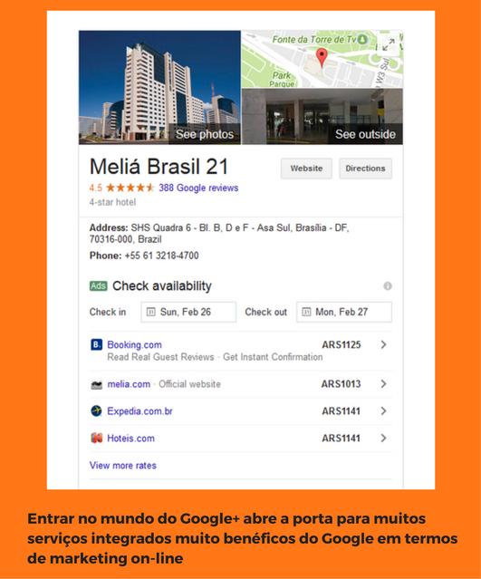 melia brasil servicio google