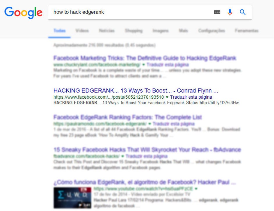 GoogleSERP search results page