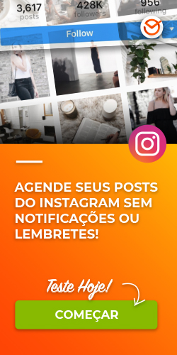 Agende seus posts do Instagram